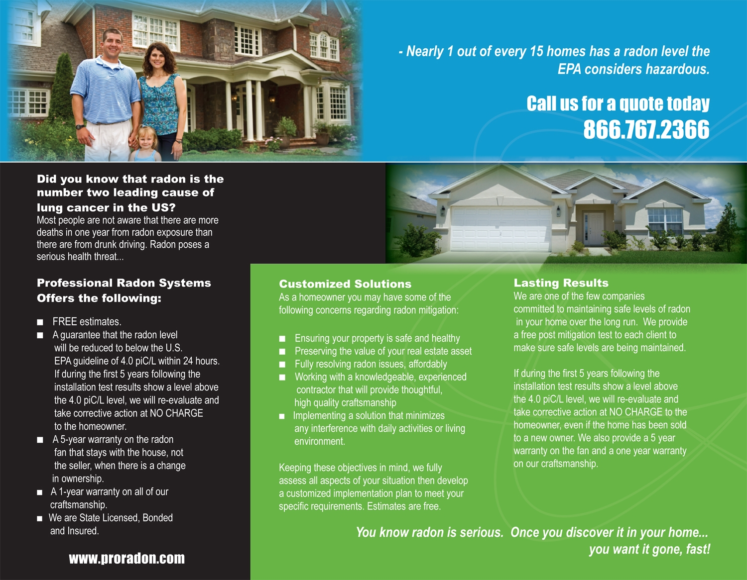 Professional Radon Systems Brochure Aria Creative